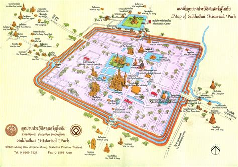Sukhothai Historical Park Map | map of sukhothai historical park teakdoor com the