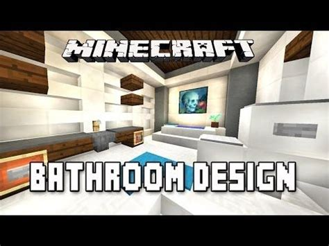 minecraft bathroom tutorial minecraft tutorial how to make a modern bathroom design