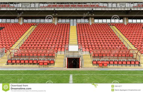 what are seats at a football soccer dugout and seats stock image image of pitch