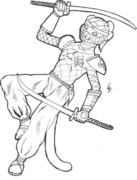 ninja cat coloring page ninja cat coloring pages