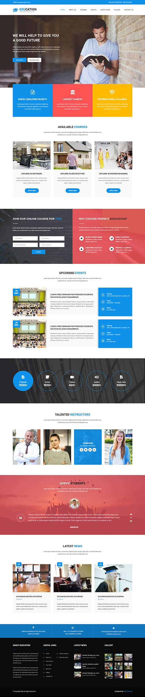 theme wordpress free lms lms wordpress theme for learning education schools