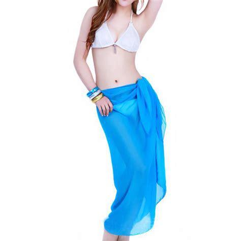 Pashmina Chiffon Import womens chiffon wrap sarong pareo swimwear