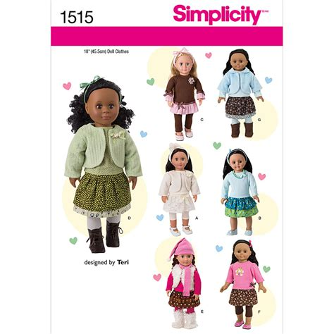 clothes pattern website simplicity pattern 1515os one size crafts doll clothes