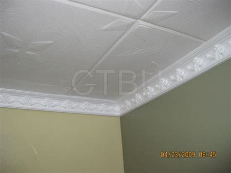 Ceiling Tiles Styrofoam by Styrofoam Molding Installed