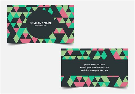 Https Www Vecteezy Free Vector Business Card Templates by Free Vector Colorful Business Card Free Vector