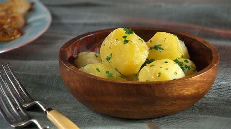 tourned steamed potatoes recipe video martha stewart