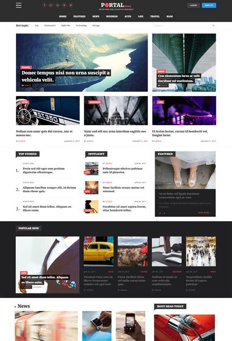 drupal themes for news portal portal news multi purpose magazine style drupal 8 theme