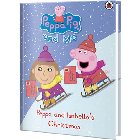 peppa pig christmas personalized book