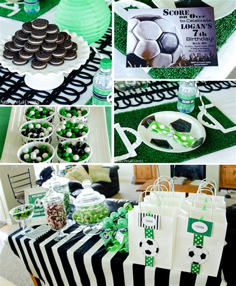 soccer themed birthday decorations soccer birthday pizzazzerie
