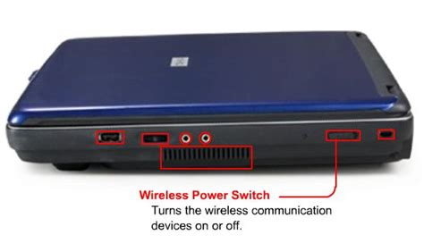 how to turn on wireless communication switch on toshiba satellite laptop