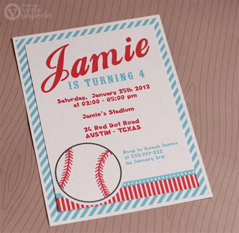 printable birthday cards diy diy printable invitation card sport baseball birthday party