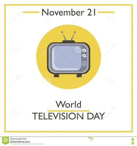 day on tv world television day november 21 stock vector image