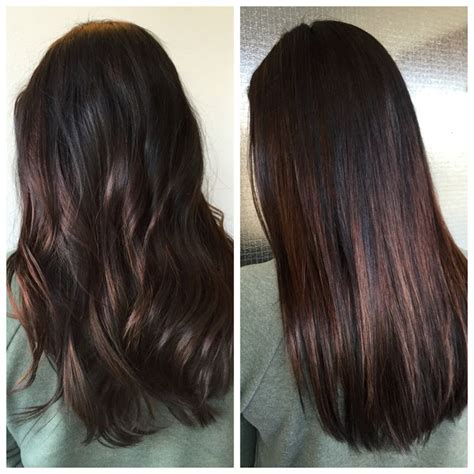 balayage highlights on dark brown hair balayage highlights in dark brown hair