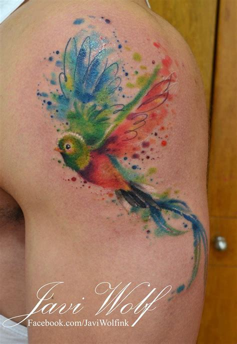 watercolor tattoo el paso 25 best ideas about quetzal on calf