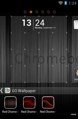 theme chrome red red chrome android theme for go launcher androidlooks com