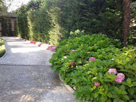esempi di giardini privati top cespugli di ortensie villa privata with esempi di