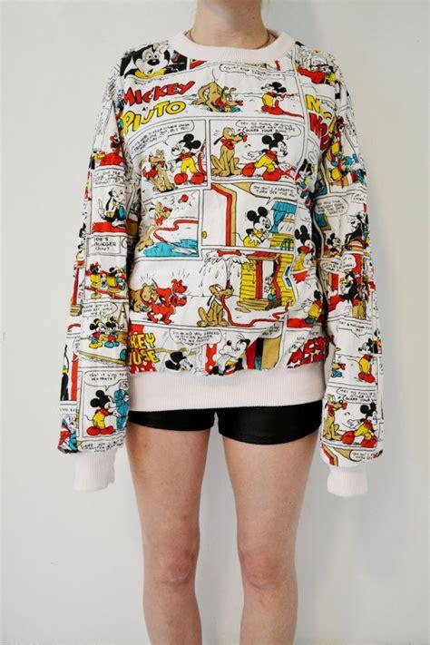 Sweatshirt Micky Mouse Comic reversible minnie and mickey mouse sweatshirt oversized