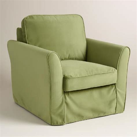 loose fit slipcovers oregano green velvet loose fit luxe chair slipcover