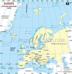 latitude map usa and europe carte latitude et longitude de pays europ 233 ens