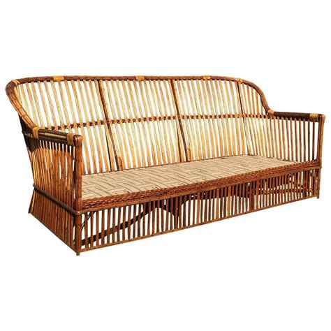 antique wicker loveseat antique stick wicker sofa at 1stdibs