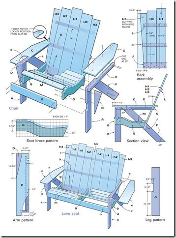 Reclining Lawn Chairs Project Plan More Woodworking Plans Muskoka Chair