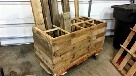 keeping organized a hive wood build a rolling timber storage cart from pallets to save
