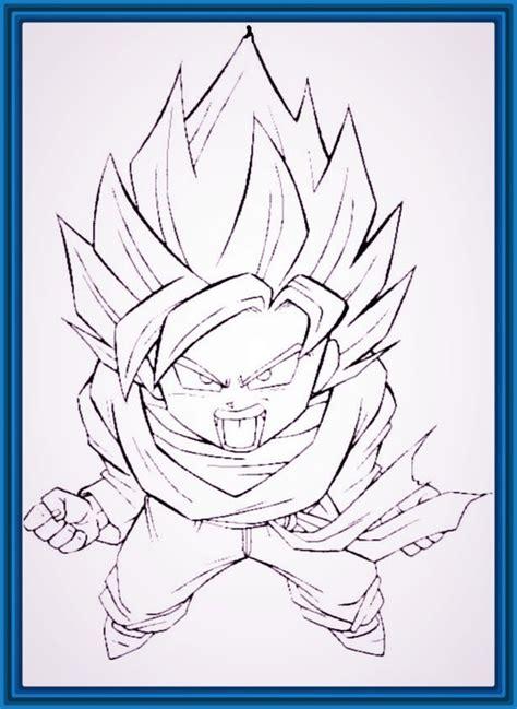 imagenes goku para dibujar faciles imagenes de dragon ball z para dibujar f 225 ciles archivos