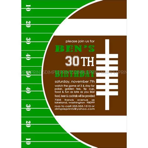 football super bowl printable invitation dimple prints shop