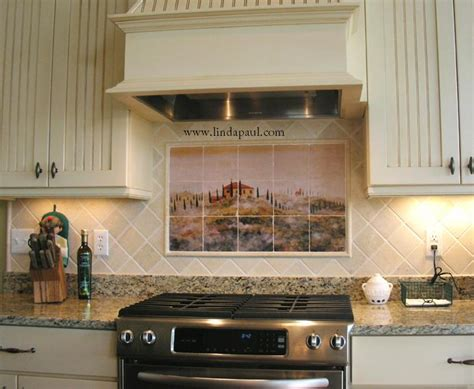 country kitchen backsplash tiles tuscan tile murals kitchen backsplashes tuscany tiles