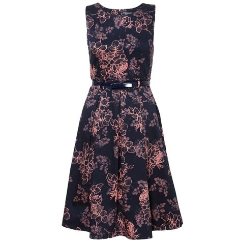 Dress And Fell Navy Floral Lace navy floral lace print structured dress in dresses from apricot the wardrobe