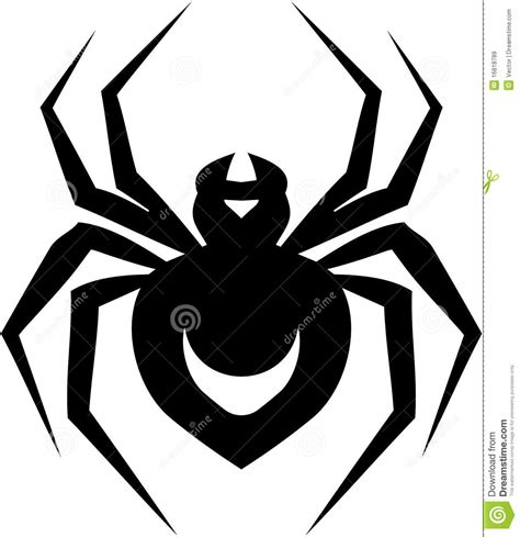 spider tattoo illustration royalty free stock images