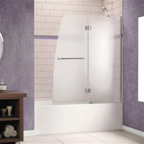58 inch bathtub home depot dreamline aqua 48 in x 58 in semi framed pivot tub and