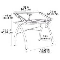 Studio Designs Futura Glass Top Craft Table 10050 Drafting Table Dimensions