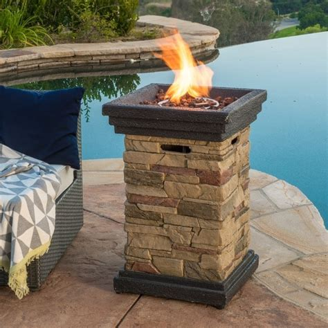 Chesney Outdoor 19 inch Column Propane Fire Pit with Lava