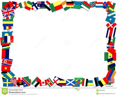 Flags Of The World Page Border | flag border printable flags