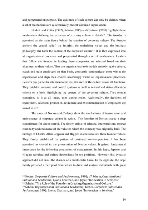 kotter heskett 1992 culture of radical innovation and long term performance in