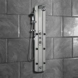 multi function shower tower panel column system with tub