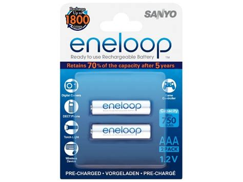 Battery Eneloop Aaa 800 Mah 100 New Original 1 sanyo eneloop aaa 800mah 2 pack rechargeable ni mh batteries aaa rechargeable batteries in
