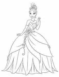 free printable princess tiana coloring pages kids