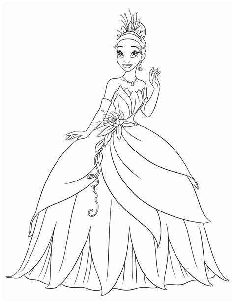 coloring pages princess free printable princess tiana coloring pages for kids