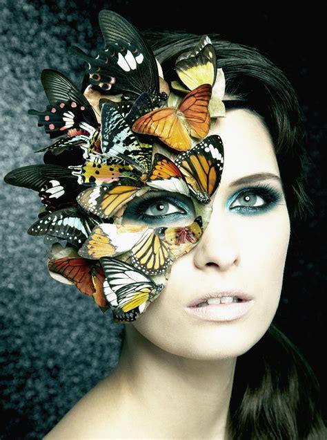 Masker Nature single image butterfly mask make up