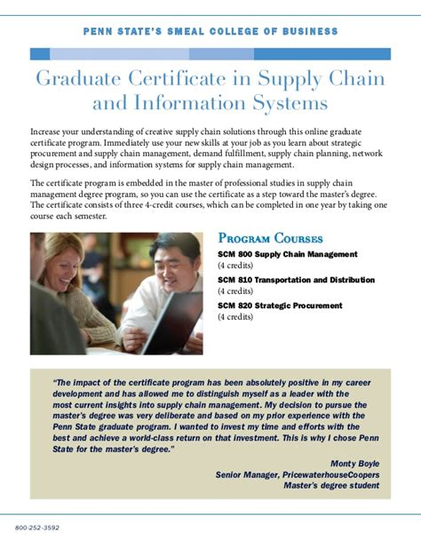 Penn State Supply Chain Management Mba by Penn State Masters Supply Chain Best Chain 2018