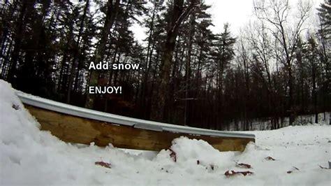 Snowboard Rails For Backyard by Diy How To Build A Terrain Park Rail For Your Backyard