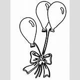 Birthday Balloons Clip Art Black And White | 1167 x 1589 gif 37kB