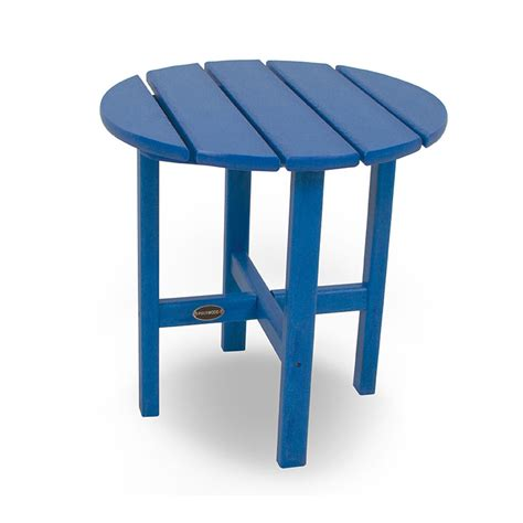 Plastic Outdoor Side Table by Polywood Outdoor 18 Inch Side Table Weatherproof