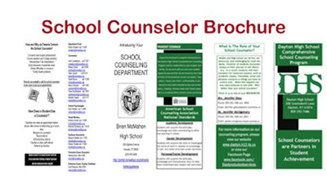 For High School Counselors 12 Practical Tips For Dealing With Changelling Parents Counseling Brochure Templates Free