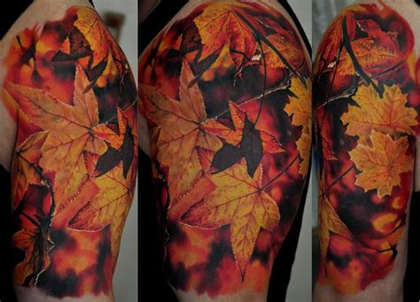 autumn leaves tattoo dmitriy samohin the best flower