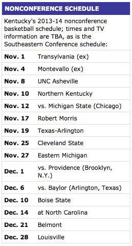 uk basketball schedule preseason likely preseason no 1 kentucky will be tested early by a
