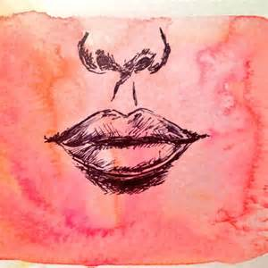 nose and lips watercolor sketch my sketches pinterest