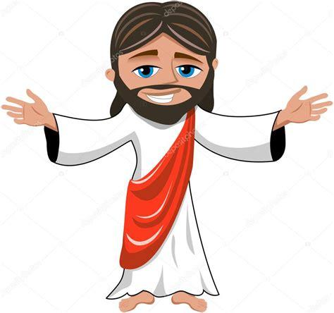 imagenes de jesus animado dibujos animados sonriendo a jes 250 s abre las manos aisladas